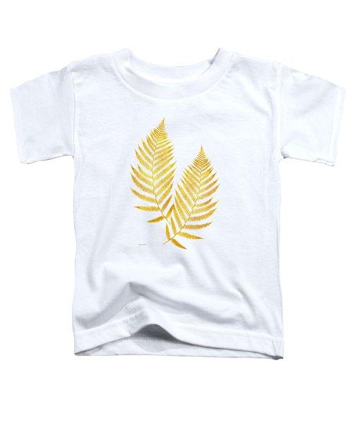 Gold Fern Leaf Art Toddler T-Shirt