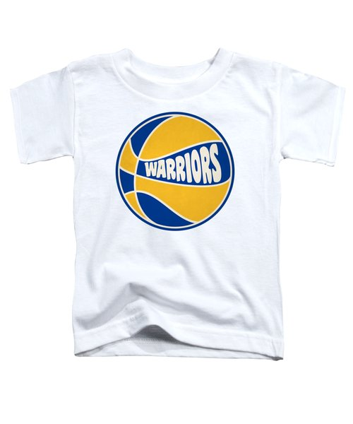 Golden State Warriors Retro Shirt Toddler T-Shirt by Joe Hamilton