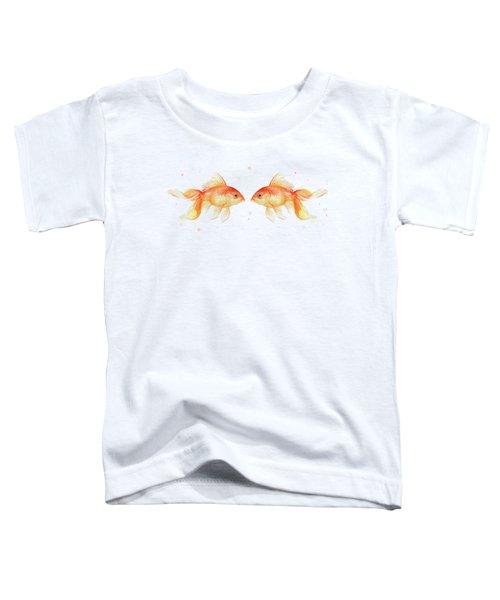 Goldfish Love Watercolor Toddler T-Shirt