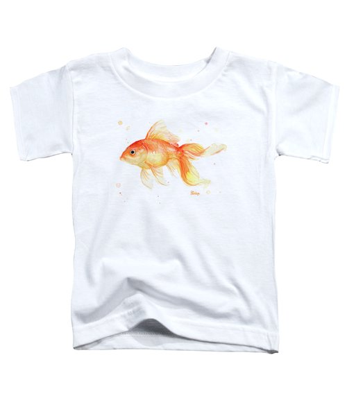 Goldfish Painting Watercolor Toddler T-Shirt
