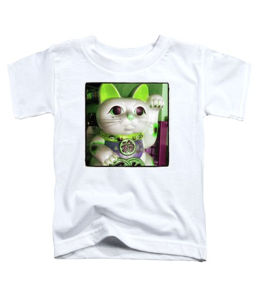 Toddler T-Shirt featuring the photograph Good Meowning. I Feel So Lucky Today by Mr Photojimsf