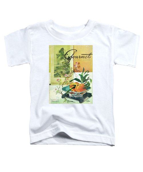 Gourmet Cover Featuring A Bowl Of Peaches Toddler T-Shirt