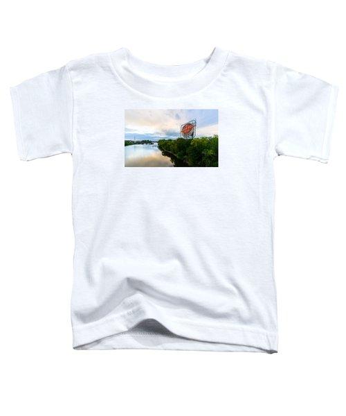 Grain Belt Beer Sign On River Toddler T-Shirt