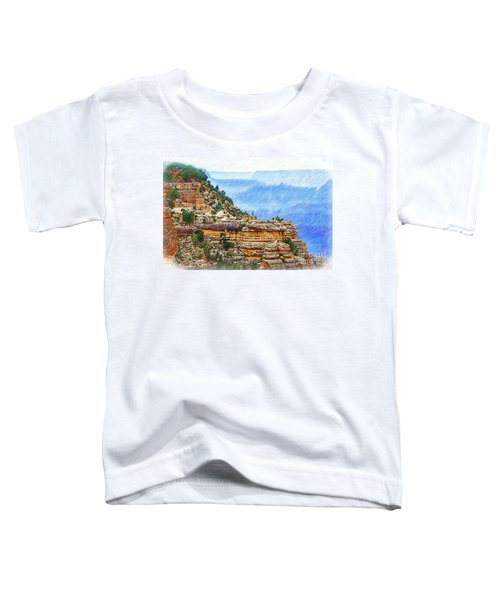 Grand Canyon Overlook Sketched Toddler T-Shirt