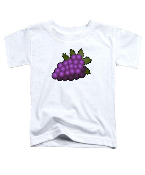 Grapes Fruit Outlined Toddler T-Shirt by Miroslav Nemecek