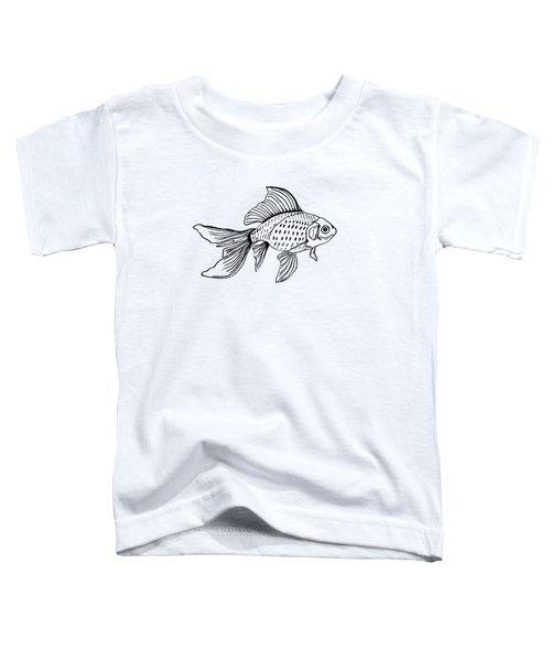 Graphic Fish Toddler T-Shirt by Masha Batkova