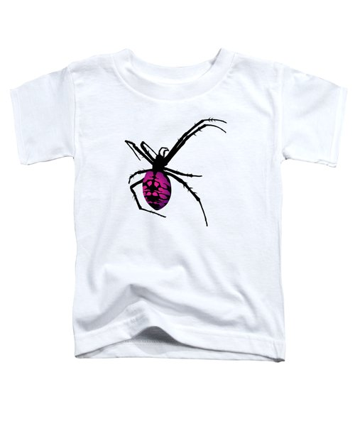 Graphic Spider Black And Purple Toddler T-Shirt