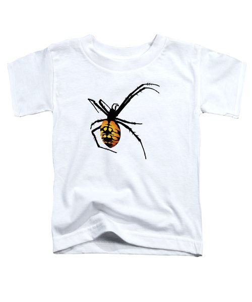 Graphic Spider Black And Yellow Orange Toddler T-Shirt