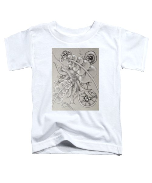 Gray Garden Explosion Toddler T-Shirt