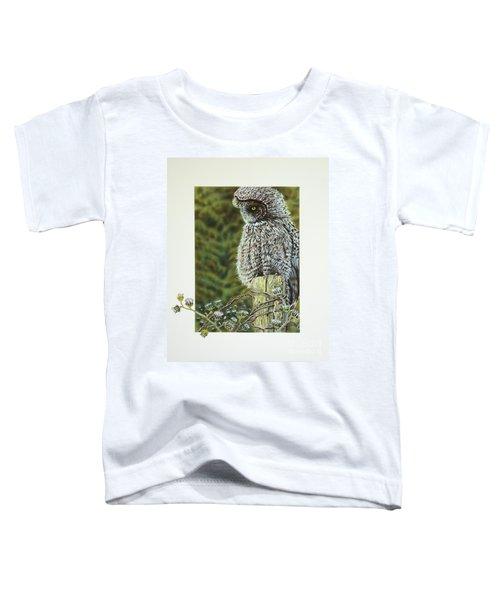 Great Grey Owl Toddler T-Shirt