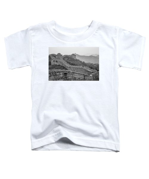 Toddler T-Shirt featuring the photograph Great Wall 7, Jinshanling, 2016 by Hitendra SINKAR
