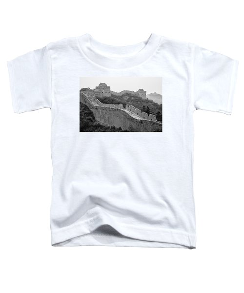 Toddler T-Shirt featuring the photograph Great Wall 8, Jinshanling, 2016 by Hitendra SINKAR