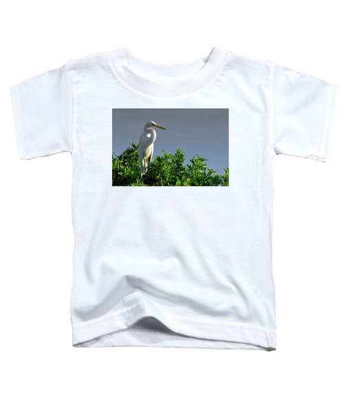 Great White Egret  Toddler T-Shirt