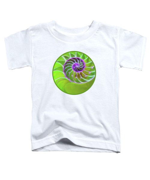 Green And Purple Spiral Toddler T-Shirt