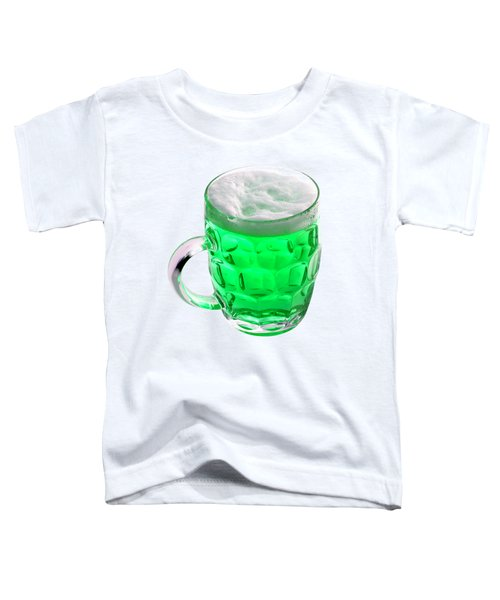 Green Beer Toddler T-Shirt by Stephanie Brock