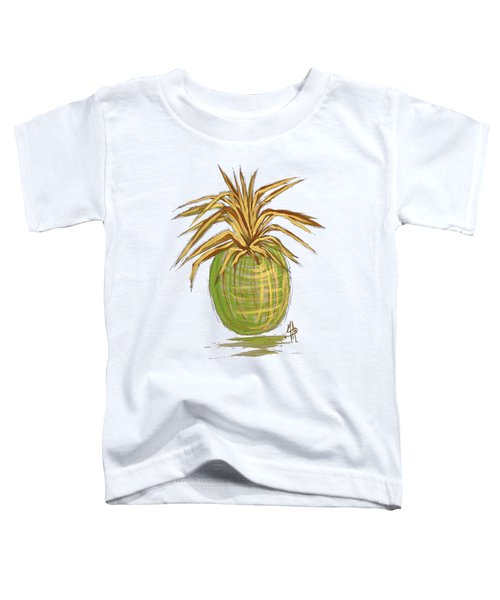 Green Gold Pineapple Painting Illustration Aroon Melane 2015 Collection By Madart Toddler T-Shirt