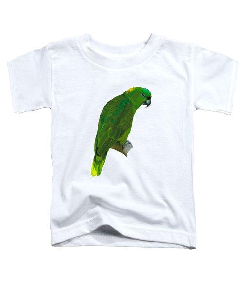 Green Parrot On White  Toddler T-Shirt