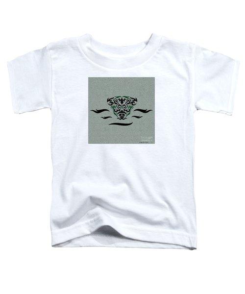 Green Tribal Gator Toddler T-Shirt