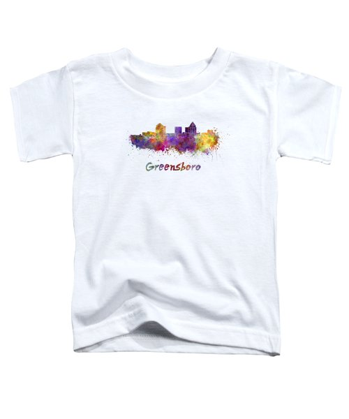 Greensboro Skyline In Watercolor Toddler T-Shirt