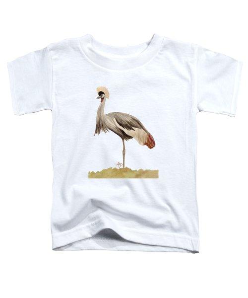Grey Crowned Crane Toddler T-Shirt