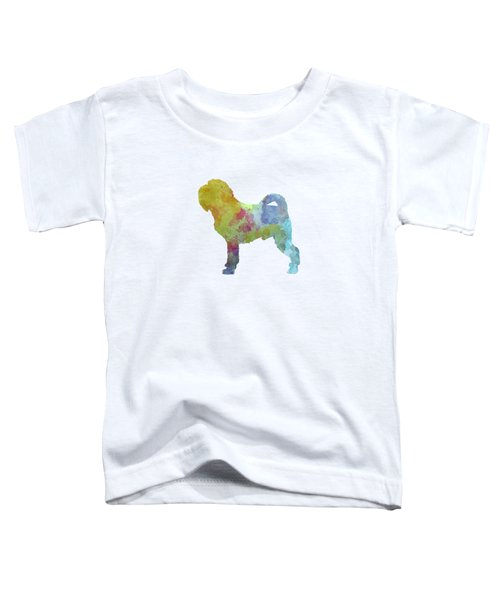 Griffon Belge In Watercolor Toddler T-Shirt by Pablo Romero