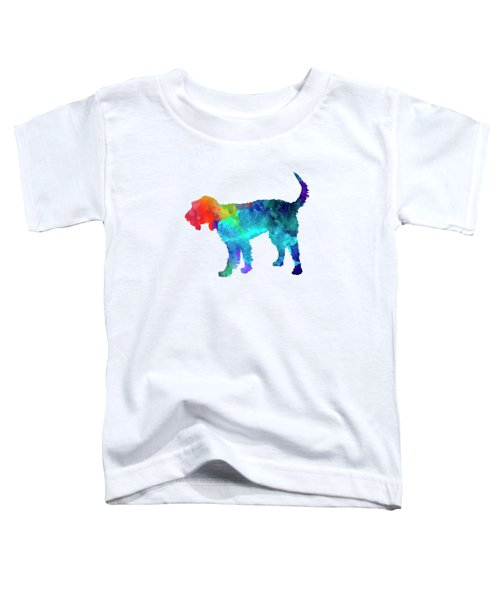 Griffon Nivernais In Watercolor Toddler T-Shirt by Pablo Romero