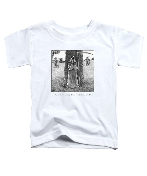 Grim Reaper Plays Hide And Seek At An Old-age Home. Toddler T-Shirt