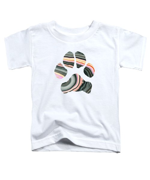 Groovy Dog Paw - Sharon Cummings  Toddler T-Shirt by Sharon Cummings