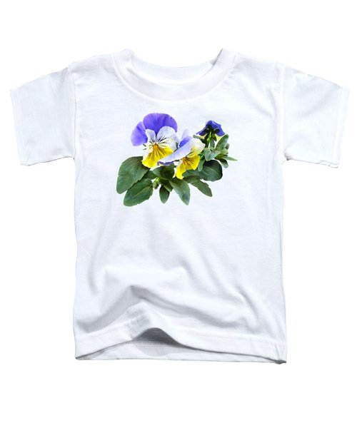 Group Of Yellow And Purple Pansies Toddler T-Shirt