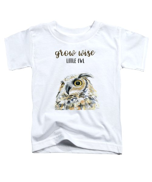 Grow Wise Little Owl Toddler T-Shirt