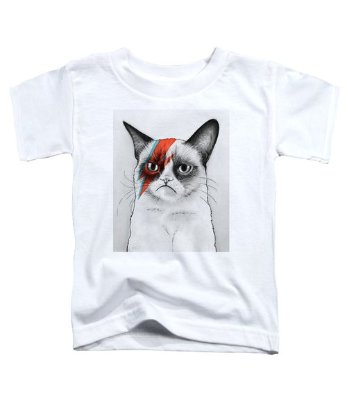 Grumpy Cat Portrait Toddler T-Shirt