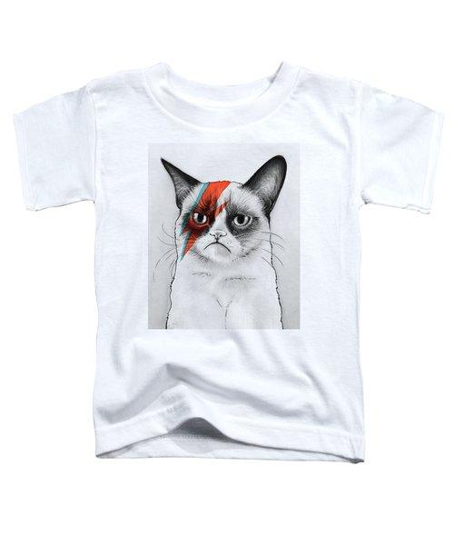 Grumpy Cat Portrait Toddler T-Shirt
