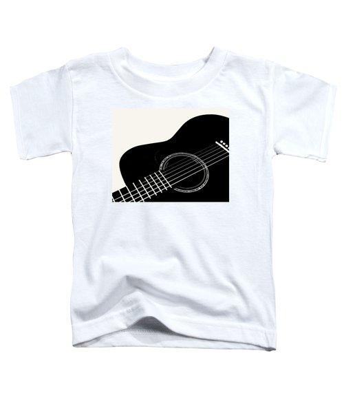 Guitar, Black And White,  Toddler T-Shirt