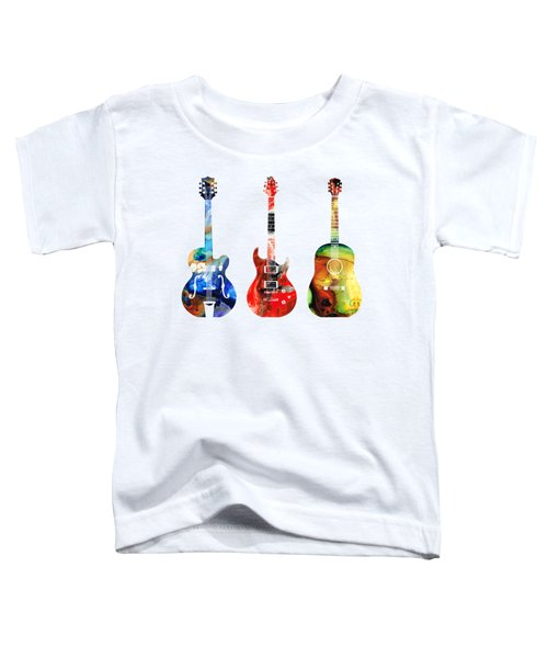 Guitar Threesome - Colorful Guitars By Sharon Cummings Toddler T-Shirt