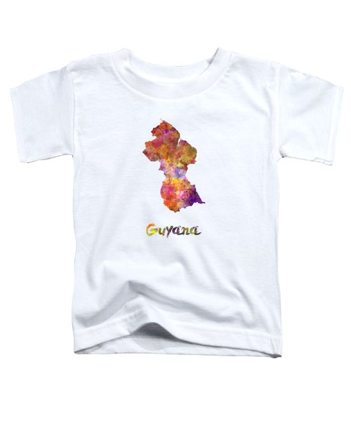 Guyana In Watercolor Toddler T-Shirt
