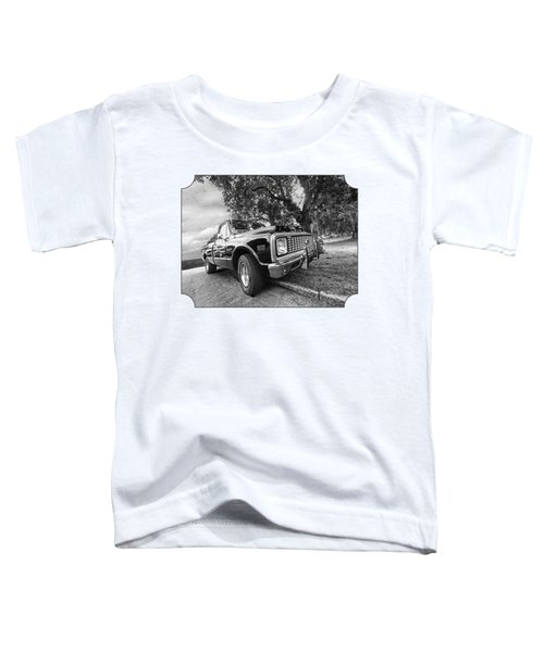 Halcyon Days - 1971 Chevy Pickup Bw Toddler T-Shirt