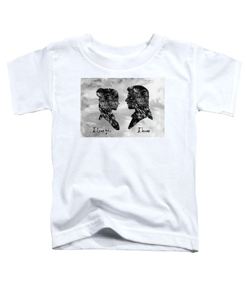Han Solo And Princess Leia-black Toddler T-Shirt