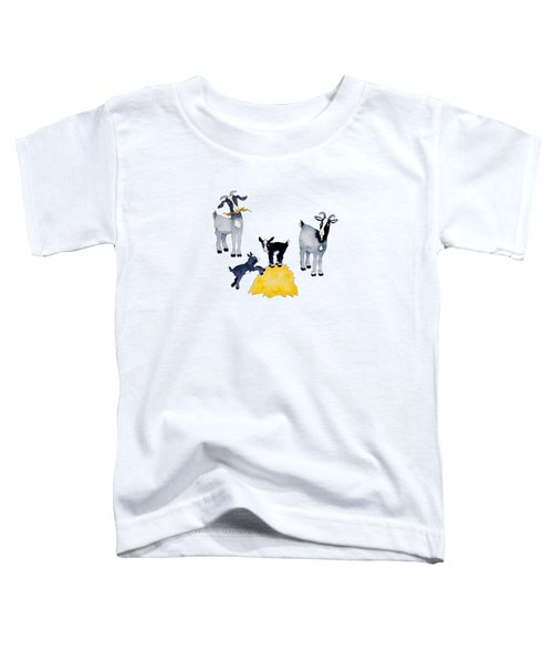 Happy Goats Toddler T-Shirt by Sarah Rosedahl