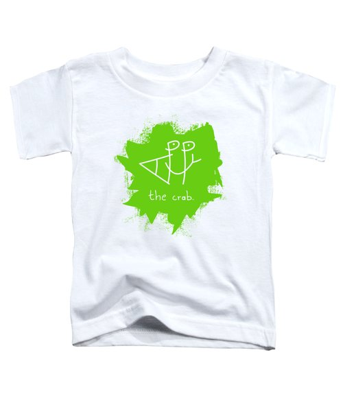 Happy The Crab - Green Toddler T-Shirt