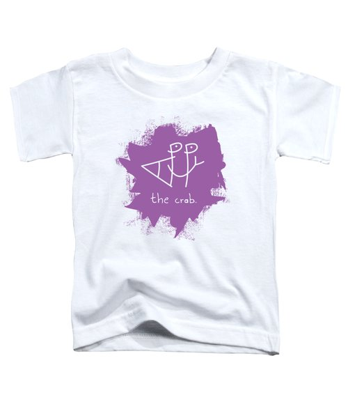Happy The Crab - Purple Toddler T-Shirt