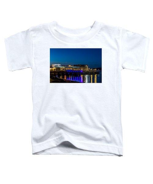 Harbor Lights During Blue Hour Toddler T-Shirt