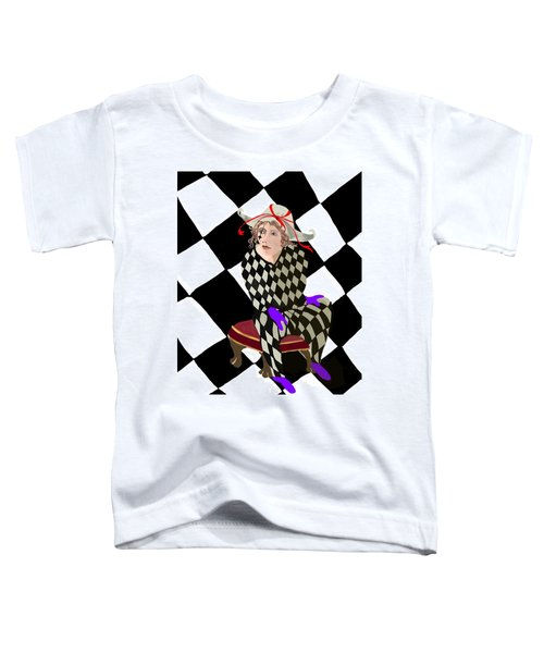 Toddler T-Shirt featuring the digital art Harlequin by Gerry Morgan