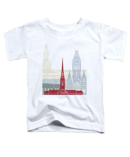 Harvard Skyline Poster Toddler T-Shirt by Pablo Romero