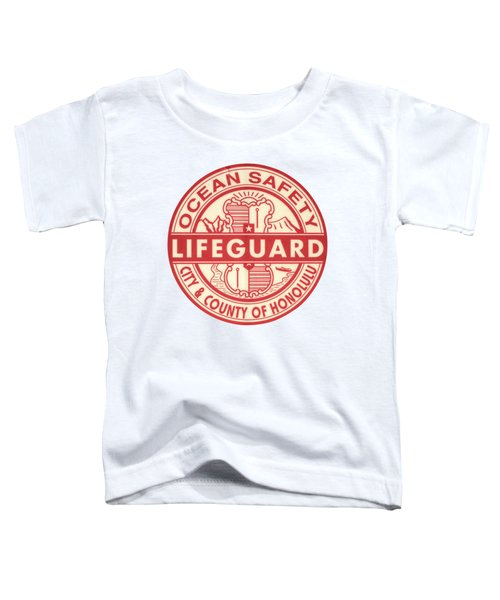 Hawaii Lifeguard Logo Toddler T-Shirt by Mr Doomits