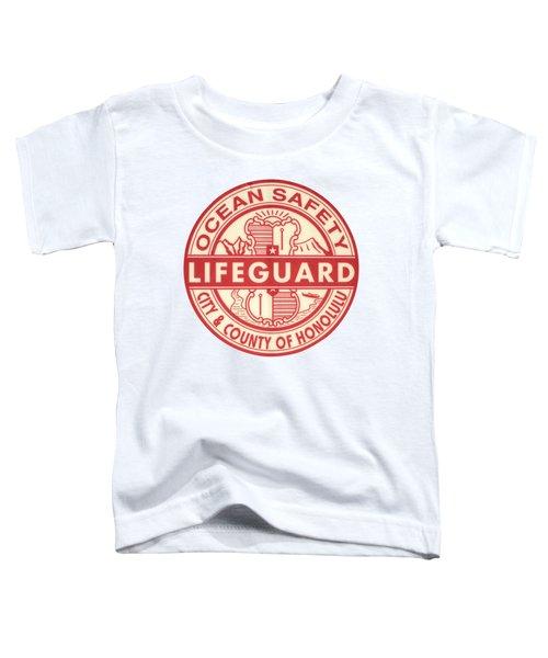 Hawaii Lifeguard Logo Toddler T-Shirt