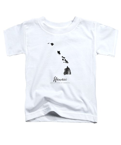 Hawaii State Map Art - Grunge Silhouette Toddler T-Shirt