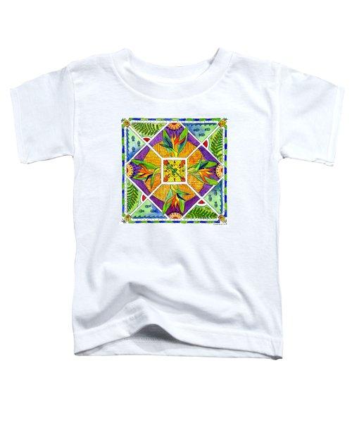 Hawaiian Mandala II - Bird Of Paradise Toddler T-Shirt
