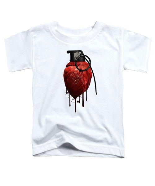 Heart Grenade Toddler T-Shirt