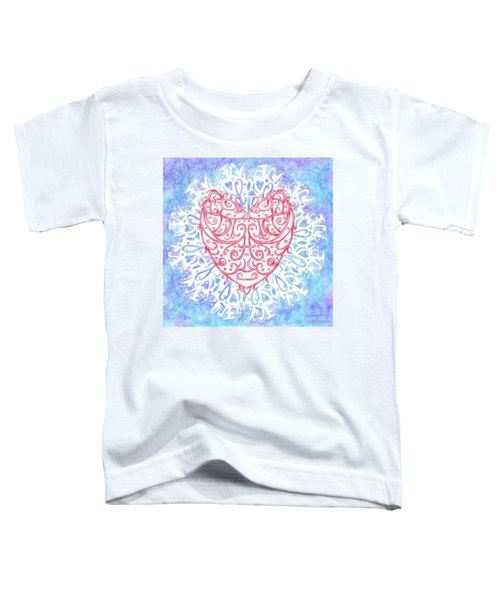 Heart In A Snowflake II Toddler T-Shirt