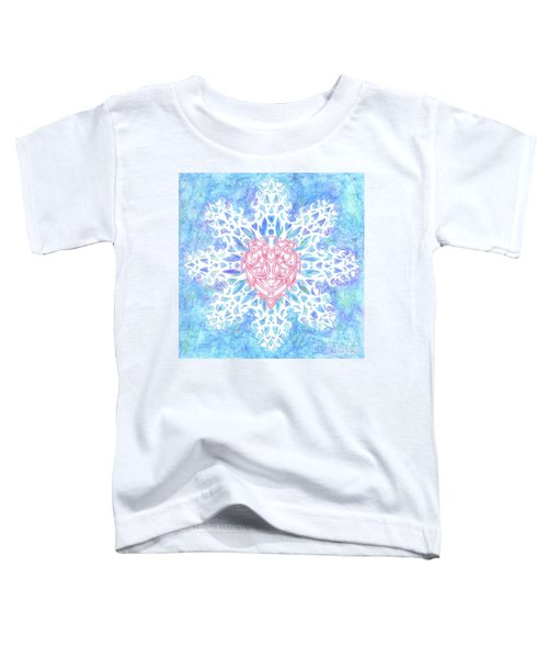 Heart In Snowflake Toddler T-Shirt